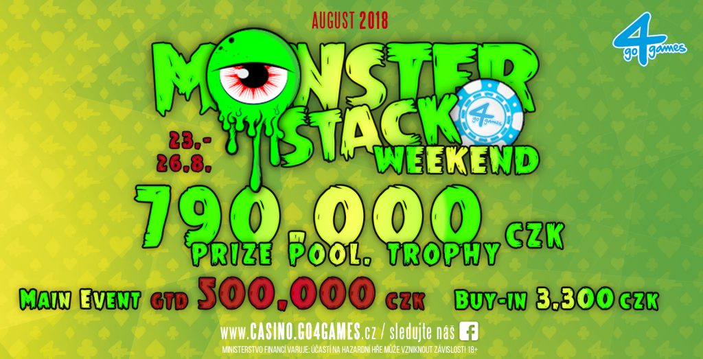 Poker turnaje Monster Stack Weekend