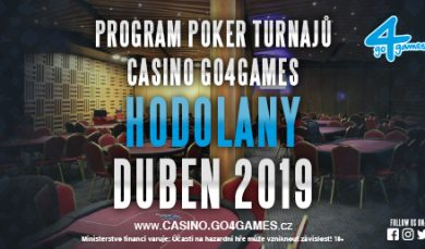 27.3.2019 Pokerový program Casino Go4games Hodolany duben 2019