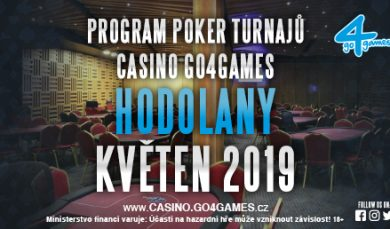 25.4.2019 Program poker turnajů Casino Go4games Hodolany květen 2019