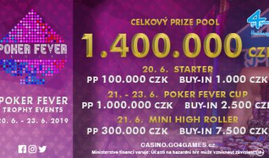 13.5.2019 Program turnajů Poker Fever červen 2019