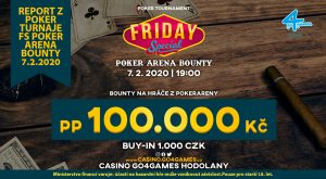 8.2.2020 Turnaj Friday Special s blogery Poker Areny ukončen heads-up dealem