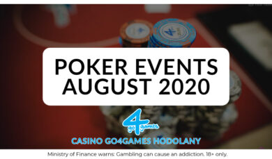 1.8.2020 Poker Events Casino Go4games Hodolany August 2020
